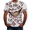 cheap Men's Tees & Tank Tops-Men's Daily Holiday Street chic / Exaggerated Plus Size T-shirt - Solid Colored Print Round Neck Red / Short Sleeve
