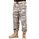 povoljno Odjeća za lov-Muškarci Maskirne lovačke hlače Ugrijati Vjetronepropusnost Prozračnost Antistaticna Proljeće Ljeto Jesen kamuflaža Shirt Majice za Camping & planinarenje Lov Ribolov Crn ACU boji CP boji S M L XL XXL