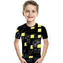 tanie Koszulki i tank topy męskie-Dzieci Brzdąc Dla chłopców Aktywny Podstawowy Geometric Shape Nadruk Kolorowy blok Nadruk Krótki rękaw T-shirt Fioletowy