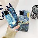 voordelige iPhone 6 hoesjes-telefoonhoes fundas voor iPhone 11 pro max 7 8 plus 6 s p 5 s e x xs max mona lisa kunst david lijnen geschilderd patroon zacht tpu helder