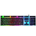 رخيصةأون لوحات المفاتيح-LITBest G21 USB سلكي لوحة مفاتيح الألعاب لوحة المفاتيح مكتب حداثة الألعاب الخلفية أحادية اللون 104 pcs مفاتيح