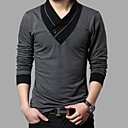baratos Camisetas & Regatas Masculinas-Homens Camiseta Estampa Colorida Preto