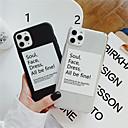 voordelige iPhone 7 Plus hoesjes-hoesje Voor Apple iPhone 11 / iPhone 11 Pro / iPhone 11 Pro Max Patroon Achterkant Woord / tekst TPU