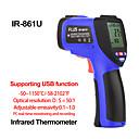 رخيصةأون آلات الحرارة-ir-861u -501150 الرقمية غير الاتصال ليزر الأشعة تحت الحمراء المحمولة ميزان الحرارة الالكترونية في الهواء الطلق