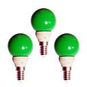 olcso Ablakápolók-3db 0.5 W LED gömbbúrás izzók 20 lm E14 G45 8 LED gyöngyök Dip LED Dekoratív Zöld 180-240 V