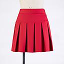 ieftine Bijuterii de Corp-Pentru femei Leagăn Sexy Mini Fuste - Mată Plisată Negru Roșu Vin Roșu Închis M L XL