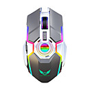 baratos Teclados-ZERODATE ZER-T30 2.4G sem fio Óptico Mouse para Jogos / carregamento do mouse Luz RGB 2400 dpi 3 níveis de DPI ajustáveis 7 pcs Chaves