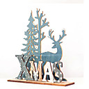 رخيصةأون تزيين المنزل-عيد الميلاد الطبيعية الأيائل الخشب حرفة شجرة عيد الميلاد زخرفة زخرفة عيد الميلاد نويل للمنزل قلادة خشبية