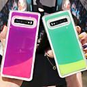 Недорогие Чехлы и кейсы для Galaxy S-Кейс для Назначение SSamsung Galaxy S7 edge / S7 / A6 (2018) Сияние в темноте / Движущаяся жидкость Кейс на заднюю панель Однотонный ТПУ / ПК