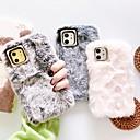 voordelige iPhone-hoesjes-hoesje Voor Apple iPhone 11 / iPhone 11 Pro / iPhone 11 Pro Max DHZ Achterkant Effen / Pluche tekstiili