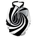 povoljno Muške majice s kapuljačom i trenirke-Muškarci Ležerne prilike / Osnovni Hoodie Prugasti uzorak / Geometrijski oblici / 3D S kapuljačom