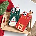 رخيصةأون أغطية أيفون-غطاء من أجل Apple اي فون 11 / iPhone 11 Pro / iPhone 11 Pro Max ضد الغبار / IMD / نحيف جداً غطاء خلفي 3Dكرتون / عيد الميلاد TPU