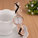 preiswerte Damen Uhren-Damen Quartz Uhr Modisch Elegant Schwarz Weiß Blau Legierung Quartz Schwarz Weiß Purpur Neues Design Armbanduhren für den Alltag Analog