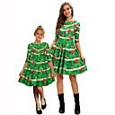 povoljno Naušnice-Mama i mene Geometrijski oblici Božić Haljina Red