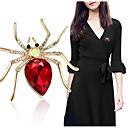 povoljno Broševi-Žene Pauci Sa životinjama Moda Elegantno Broš Jewelry purpurna boja Zlato Crvena Za Vjenčanje Party Dnevno Kauzalni