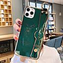رخيصةأون أغطية أيفون-غطاء من أجل Apple اي فون 11 / iPhone 11 Pro / iPhone 11 Pro Max مع حامل / تصفيح / نموذج غطاء خلفي لون سادة / كارتون TPU