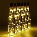 povoljno LED svjetla u traci-2m Žice sa svjetlima 20 LED diode SMD 0603 Toplo bijelo / Bijela / Plavo Vodootporno / Ukrasno / Vjenčanje Baterije su pogonjene 1pc
