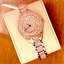 cheap Women's Watches-Women's Luxury Watches Wrist Watch Diamond Watch Japanese Stainless Steel Silver / Gold 30 m Analog Ladies Bling Bling - Rose Gold Gold Silver