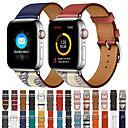 abordables Bracelets Apple Watch-bracelet unique pour montre Apple series 5 4 3 2 1 bracelet pour ceinture en cuir véritable de haute qualité, boucle en cuir 38mm / 40mm / 42mm / 44mm