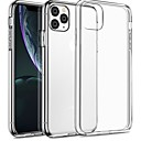 voordelige iPhone-hoesjes-hoesje Voor Apple iPhone 11 / iPhone 11 Pro / iPhone 11 Pro Max Transparant Achterkant Transparant / Effen TPU