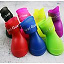 رخيصةأون سجادات-كلب أحذية و جزم مقاومة الماء لون سادة للحيوانات الأليفة جلد PU ضد الزحلقة أخضر / الصيف