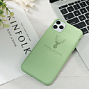 povoljno iPhone maske-Θήκη Za Apple iPhone 11 / iPhone 11 Pro / iPhone 11 Pro Max Uzorak Stražnja maska Jednobojni silika gel