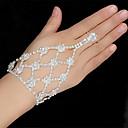 ieftine Brățări-Pentru femei Ring Bracelets Brățară Lantul de tenis Floare Clasic European Modă Elegant Ștras Bijuterii brățară Argintiu Pentru Nuntă Petrecere Logodnă Cadou Zilnic