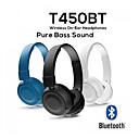 رخيصةأون سماعات على الأذن-JBL 450BT سماعة فوق الأذن سلكي السفر والترفيه بلوتوث 5.0 حجب الضجيج ستيريو مع التحكم في مستوى الصوت