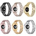 voordelige iPhone 6 hoesjes-voor Apple horlogeband 40 / 38mm 42 / 44mm dames diamanten band voor Apple Watch serie 5 4 3 2 iwatch armband roestvrij stalen band