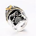 povoljno Prstenje-Muškarci Prilagodljivi prsten 1pc Srebro Geometric Shape Moda Dnevno Praznik Jewelry Geometrijski Lubanja Cool