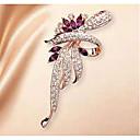 povoljno Broševi-Žene Kubični Zirconia Broševi Klasičan Cvijet Klasik Osnovni Broš Jewelry purpurna boja Za Party diplomiranje Dar Dnevno Festival