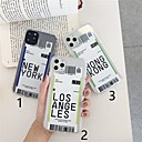voordelige iPhone-hoesjes-hoesje Voor Apple iPhone 11 / iPhone 11 Pro / iPhone 11 Pro Max Transparant / Patroon Achterkant Woord / tekst TPU
