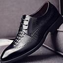 رخيصةأون خواتم-رجالي طباعة أوكسفورد مطاط / Leather نابا خريف & شتاء أوكسفورد أسود