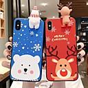 voordelige iPhone-hoesjes-hoesje voor Apple iPhone 11 / iPhone 11 pro / iPhone 11 pro max / 6 / 6p / 7/8 / 7p / 8p / x / xr / xsmax stofdichte achterkant 3d cartoon / kerst tpu