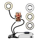 voordelige Bluetooth selfiestick-fotografie verlichting 2 in 1 luie beugel telefoon stand flexibele mobiele telefoon clip met 36 stks led selfie ring licht voor livestream