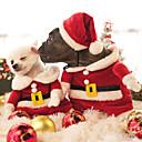 رخيصةأون مستلزمات وأغراض العناية بالكلاب-قط كلب ازياء تنكرية حللا عيد الميلاد الشتاء ملابس الكلاب أحمر كوستيوم القطبية ابتزاز كارتون الكوسبلاي عيد الميلاد XS S M L XL