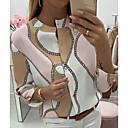 povoljno LED svjetla s dvije iglice-Bluza Žene Dnevno Geometrijski oblici Blushing Pink