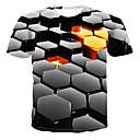 povoljno Narukvice-Majica s rukavima Muškarci Dnevno 3D Crn
