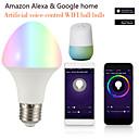 رخيصةأون مصابيح كروية LED-1PC 7 W مصابيح كروية LED مصابيح صغيرة LED 700 lm B22 E26 / E27 21 الخرز LED أب التحكم Smart التوقيت ألوان متعددة 85-265 V