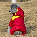 povoljno Odjeća za psa i dodaci-Mačka Pas Kaputi Hoodies Jumpsuits Zima Odjeća za psa Bijela Zelen Crvena Kostim Pamuk Color block Ugrijati Moda XS S M L XL XXL