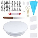 cheap Galaxy S Series Cases / Covers-34 pcs/Set With Non-Slip Decorating Cake Turntable Tool Set DIY Decorating Icing Tip Set