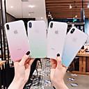 رخيصةأون أغطية أيفون-غطاء من أجل Apple اي فون 11 / iPhone 11 Pro / iPhone 11 Pro Max شفاف / بريق لماع غطاء خلفي لون متغاير TPU