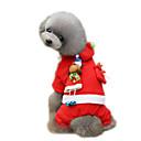 povoljno Punjač s kabelom-Pas Kaputi Djed Mraz Zima Odjeća za psa Crvena Božić Kostim Flis XXS XS S M L