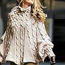 povoljno Smart Lights-Žene Jednobojni Dugih rukava Širok kroj Pullover Džemper od džempera, Dolčevita Žutomrk S / M / L