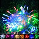 ieftine Fâșii Becurie LED-10m Fâșii De Becuri LEd Flexibile / Bare De Becuri LED Rigide / Fâșii de Iluminat 100 LED-uri SMD 0603 Alb Cald / Alb / Roșu Crăciun / Anul Nou Rezistent la apă / Petrecere / Decorativ 220-240 V