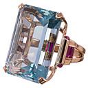 ieftine Inele-Pentru femei Band Ring Inel Zirconiu Cubic 1 buc Albastru Deschis Argilă Stilat Lux Modă Nuntă Logodnă Bijuterii