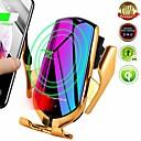 povoljno Bežični punjači-r1 10w auto bežični punjač automatski stezanje držača telefona za iphone samsung huawei lg infracrveno indukcijsko qi držač punjača gps