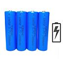 povoljno Punjači baterija-Li-ion 18650 baterija 2000 mAh 4kom 3.7 V Može se puniti Kompaktna veličina Hitan za Outdoor Baterijska svjetiljka Bike Light Camping & planinarenje Lov Ribolov Plav / Biciklizam / Bicikl