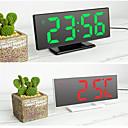 رخيصةأون لعب مغناطيس-المنبه الرقمية الصمام مرآة الساعات الإلكترونية متعددة الوظائف شاشة LCD كبيرة الرقمية على مدار الساعة الجدول مع درجة الحرارة التقويم