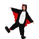 ieftine Machiaj Halloween-Pentru copii Pijama Kigurumi Băţ Animal Pijama Întreagă Flanel Lână Negru Cosplay Pentru Baieti si fete Sleepwear Pentru Animale Desen animat Festival / Sărbătoare Costume / Leotard / Onesie